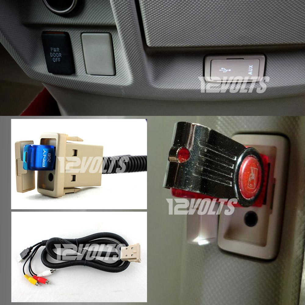 Car Auxiliary Port: In-Car USB & Audio/Video Aux Extension Cable For Toyota